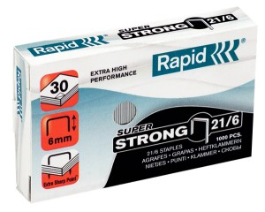 Zszywki Rapid 21/6 super strong do 30 kartek