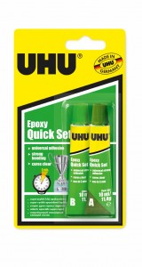 KLEJ EPOKSYDOWY UHU STRONG  EPOXY QUICKSET 2X10ML