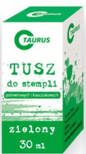 Tusz do stempli zielony 30ml Taurus